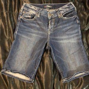 Silver Bermuda shorts